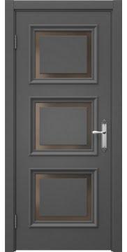Межкомнатная дверь SK010 (эмаль серая / стекло бронзовое) — 5245