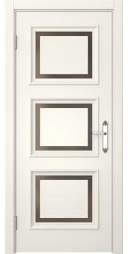 Межкомнатная дверь SK010 (эмаль слоновая кость / стекло бронзовое) — 5242