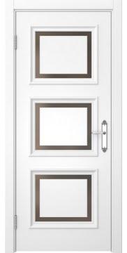 Межкомнатная дверь SK010 (белая эмаль / стекло бронзовое) — 5244