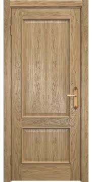 Межкомнатная дверь, SK011 (шпон дуб натуральный, глухая)