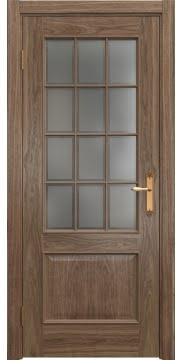 Межкомнатная дверь SK011 (шпон американский орех / стекло рамка) — 5811