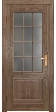 Межкомнатная дверь SK011 (шпон американский орех / матовое стекло) — 5809