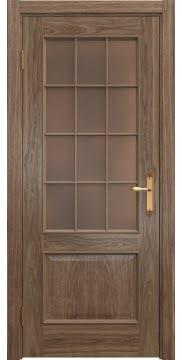 Межкомнатная дверь SK011 (шпон американский орех / стекло бронзовое) — 5810