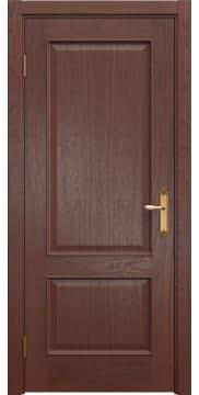 Межкомнатная дверь SK011 (шпон красное дерево / глухая) — 5632