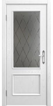 Межкомнатная дверь SK011 (шпон ясень белый / стекло бронзовое рамка) — 5654