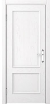 Межкомнатная дверь, SK011 (шпон белый ясень, глухая)