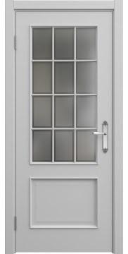 Межкомнатная дверь, SK011 (эмаль серая, остекленная)