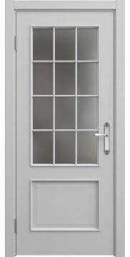Межкомнатная дверь SK011 (эмаль серая / матовое стекло) — 5646