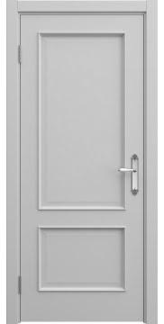 Дверь в стиле классика, SK011 (эмаль серая, глухая)