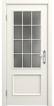 Межкомнатная дверь SK011 (эмаль слоновая кость / стекло рамка) — 5650