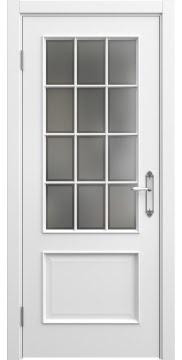 Межкомнатная дверь, SK011 (эмаль белая, остекленная)