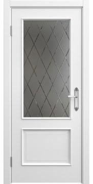 Межкомнатная дверь SK011 (эмаль белая / стекло бронзовое рамка) — 5638