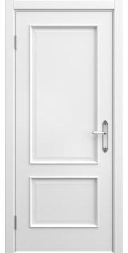 Межкомнатная дверь, SK011 (эмаль белая, глухая)