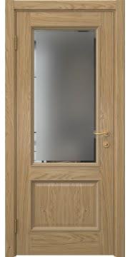 Межкомнатная дверь SK014 (натуральный шпон дуба / стекло с фацетом) — 5916