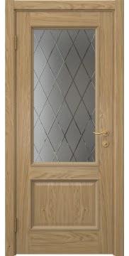 Межкомнатная дверь SK014 (натуральный шпон дуба / сатинат ромб) — 5915