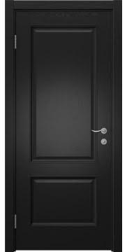 Межкомнатная дверь, SK014 (шпон ясень черный, глухая)