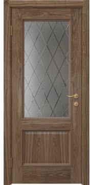 Межкомнатная дверь SK014 (шпон американский орех / сатинат ромб) — 5927