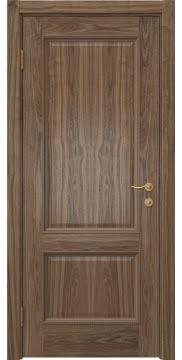 Шпонированная межкомнатная дверь SK014 (шпон американский орех, глухая)