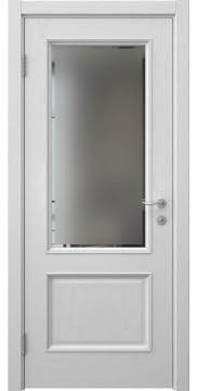 Межкомнатная дверь SK014 (шпон ясень светло-серый / стекло с фацетом) — 5934