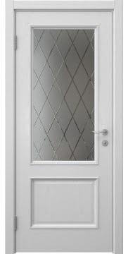 Межкомнатная дверь SK014 (шпон ясень светло-серый / сатинат ромб) — 5933
