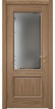 Межкомнатная дверь SK014 (шпон дуб светлый / стекло с фацетом) — 5919