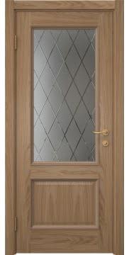 Межкомнатная дверь SK014 (шпон дуб светлый / сатинат ромб) — 5918