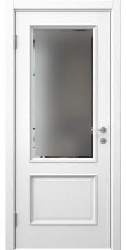 Межкомнатная дверь SK014 (шпон ясень белый / стекло с фацетом) — 5931