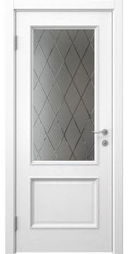 Межкомнатная дверь SK014 (шпон ясень белый / сатинат ромб) — 5930