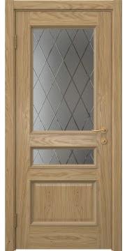 Межкомнатная дверь SK015 (натуральный шпон дуба / сатинат ромб) — 5939