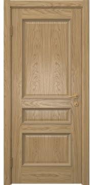 Межкомнатная дверь SK015 (натуральный шпон дуба / глухая) — 5938