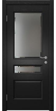 Межкомнатная дверь SK015 (шпон ясень черный / стекло с фацетом) — 5961