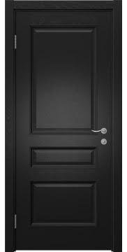 Межкомнатная дверь SK015 (шпон ясень черный / глухая) — 5959