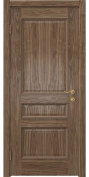 Шпонированная дверь, SK015 (натуральный шпон американского ореха)