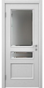 Межкомнатная дверь SK015 (шпон ясень светло-серый / стекло с фацетом) — 5958