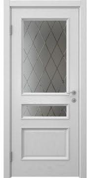 Межкомнатная дверь SK015 (шпон ясень светло-серый / сатинат ромб) — 5957