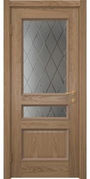 Межкомнатная дверь SK015 (шпон дуб светлый / сатинат ромб) — 5942