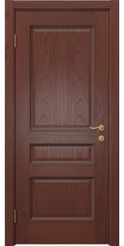 Межкомнатная дверь SK015 (шпон красное дерево / глухая) — 5947