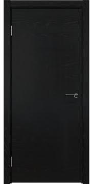 Межкомнатная дверь, ZK001 (шпон ясень черный, глухая)