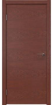 Межкомнатная дверь ZK001 (шпон красное дерево, глухая)