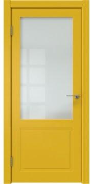 Межкомнатная дверь ZK002 (эмаль RAL 1032, матовое стекло) — 2014
