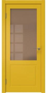 Межкомнатная дверь ZK002 (эмаль RAL 1032, стекло бронзовое) — 2015