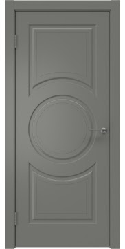 Межкомнатная дверь, ZK008 (эмаль серая, глухая)