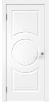 Дверь в классическом стиле, каркас из массива сосны и МДФ, ZK008 (эмаль белая, глухая)