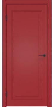 Межкомнатная дверь, каркас: массив сосны ZK009 (эмаль красная, глухая)
