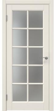 Межкомнатная дверь, ZK010 (эмаль слоновая кость, матовое стекло)