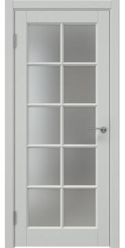 Межкомнатная дверь, ZK010 (эмаль светло-серая, матовое стекло)