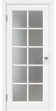 Межкомнатная дверь, ZK010 (эмаль белая, матовое стекло)