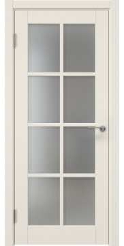 Межкомнатная дверь, ZK012 (эмаль слоновая кость, матовое стекло)