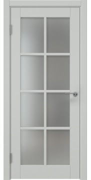 Межкомнатная дверь ZK012 (эмаль светло-серая, матовое стекло) — 7020