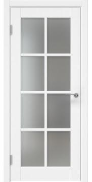 Межкомнатная дверь, ZK012 (эмаль белая, матовое стекло)